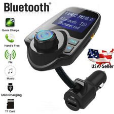 Wireless In-Car Bluetooth FM Transmitter MP3 Radio Adapter Car Kit USB Charger R