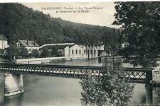 Carte VALENTIGNEY Les Usines Peugeot et Passerelle sur le Doubs