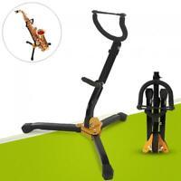 Metal Folding Saxophone Stand Tenor Alto Sax Rack Tripod Holder Protable Black