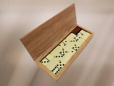 Dominoes Box w/Cribbage Board Scoring & Personalized Inlay