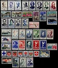 L'ANNÉE 1958 Complète, Neufs * = Cote 37 € / Lot Timbres France 1142 à 1188