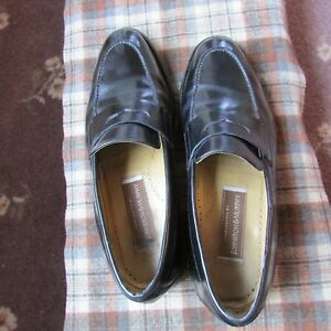 Johnston & Murphy Mens Black Penny Loafer Shoes 9 D/B  Made In Mexico