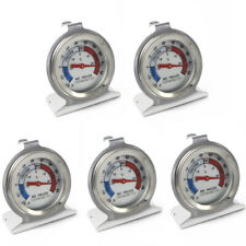 5x Refrigerator Freezer Thermometer Fridge Dial Type Stainless Steel Hang Stand
