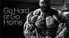 """Man Bodybuilding Motivational Male Fitness Gym Quotes Poster 24""""x13"""" 008"""