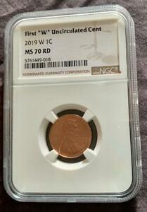 2019 W UNCIRCULATED LINCOLN CENT NGC MS70 RD VERY RARE GRADE NO RESERVE AUCTION!
