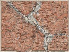 BAD RAGAZ. Malbun Flums Wangs Pizol Sargans Grusch Malans Maienfeld 1909 map
