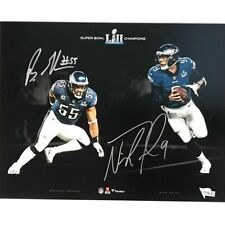 Autographed/Signed NICK FOLES & BRANDON GRAHAM Eagles 11x14 Photo Fanatics COA