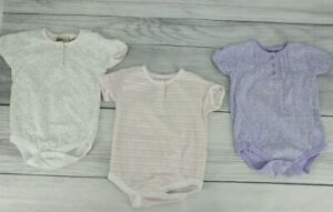 Faded Glory Baby Girls One Piece Body Suit Bundle Lot Size 18 Months Purple