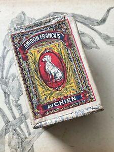 Ancienne boite Publicitaire en carton Amidon Français Au Chien - Collection