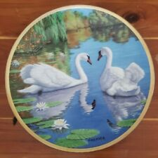 """The Swan� Plate The Elegant Birds Series Limited Edition Plate 1988 8.5"" Bradex"