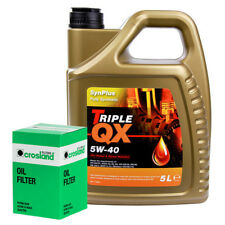 Oil Filter Service Kit With Triple QX Fully Syntetic Plus 5W40 Engine Oil 5L