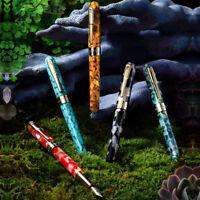 Montagut Colorful Mini Celluloid Fountain Pen Acrylic Iridium F Nib Pocket Pen
