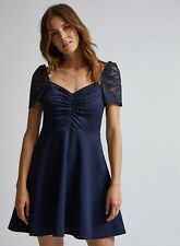 DOROTHY PERKINS NAVY LACE SWEETHEART SKATER DRESS SIZE 20 NWT PROM OCCASION