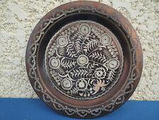 antica piatto Rame Cesellato berbero ? copper Piatto antiq