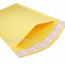"10 pcs 6.3x11"" KRAFT BUBBLE MAILERS PADDED ENVELOPE SHIPPING BAGS 160x280mm"