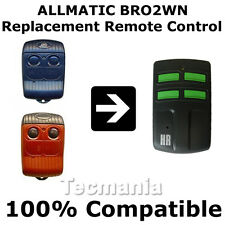 ALLMATIC b.ro1 / 2 / 4wn ROSSO REPLACEMENT Remote Control Garage Cancello FOB NUOVO