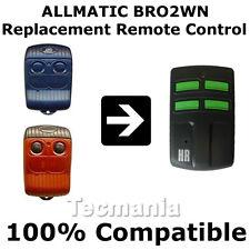 Allmatic bro2wn / b.ro 2wn Rojo Control Remoto De Reemplazo Garage Puerta fob Nuevo