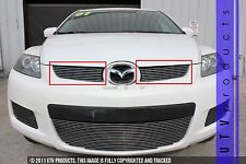 GTG 2007 - 2009 Mazda CX7 2PC Polished Upper Overlay Billet Grille Grill Kit