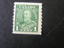 CANADA, SCOTT # 228, 1c. VALUE GREEN 1935 COIL STAMPS KGV ISSUE. MNH