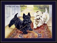 English Print West Highland Scottish Terrier Dog Dogs Puppy Puppies Poster Art