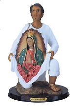 12 Inch Saint Juan Diego W/ Virgen of Guadalupe Figurine Statue Figure St Santo