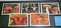 "FRANCOBOLLI GUYANA 1991 ""FUNGHI  MUSHROOMS"" TIMBRATI USED SET (CAT.4)"