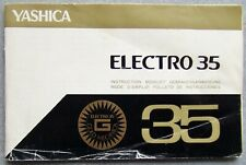 YASHICA ELECTRO 35 INSTRUCTION MANUAL