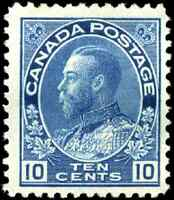Canada #117 mint F-VF OG H 1922 King George V 10c blue Admiral CV$55.00