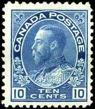 Canada #117 mint F-VF OG H 1922 King George V 10c blue Admiral CV$55.00
