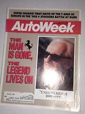 Autoweek Magazine Enzo Ferrari Lives On August 22, 1988 011717RH