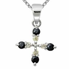 Diamond Sapphire Sterling Silver Fine Necklaces & Pendants