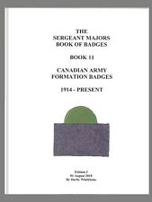 REF BOOK 11 - CANADIAN ARMY FORMATION BADGES