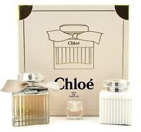 Chloe by Chloe 3Pcs Set: 2.5oz EDP Spr + 5ml EDP Spl. Mini + 3.4oz B/L. New Set.