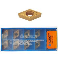 10 KORLOY Wendeschneidplatten DCMT 070204-HMP NC3220