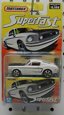 WHITE 67 68 69 FORD MUSTANG 428 COBRA 52 15,500 2006 SUPERFAST MB MBX MATCHBOX