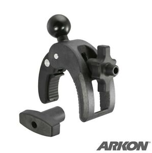 """Robust 25mm (1"""") Rubber Ball Clamp Mount with Security Knob for Bars .2""""to 1.75"""""""