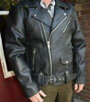 Marlon Brando Motorrad Rind Leder Jacke Schwarz Klassisch Biker Oldschool Ride