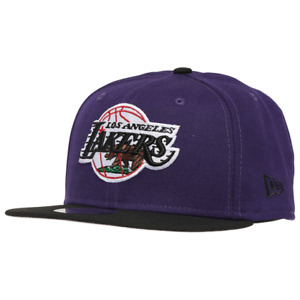 Los Angeles Lakers Hat New Era 9Ffity LA NBA Snapback Cap Purple Black Cali Flag