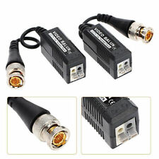 2pcs Twisted Video Balun BNC Passive Transceiver Connector CAT5 For CCTV Camera