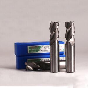 HSS Schaftfräser 3 Zähne NEU 2, 3, 4, 5, 6, 8, 10, 12, 16, 20, 22, 25mm Fräser