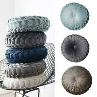 Velvet Round Pumpkin Waist Cushion Cover Throw Pillow Mat Sofa Car Home Decor ^