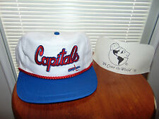 90's Washington Capitals Snapback NHL Hockey Hat Cap VINTAGE WHITE Blue NEW
