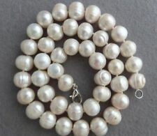 """Natural 8-9MM huge (thread) White South Sea Pearl Necklace 18"""""""