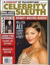 ALI LANDRY Celebrity Sleuth 2001 Vol 14 No 4 KELLY HU KATHIE LEE GIFFORD