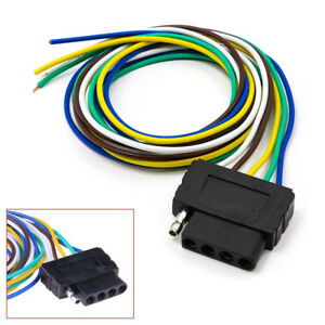 5-Pin Plug Trailer Light Wiring Harness Extension Cable Wire Connector Adapter