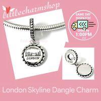 New Authentic Genuine PANDORA Silver London Skyline Dangle Charm - 792018E006