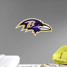 """Baltimore Ravens FATHEAD Official PRIMARY TEAM LOGO 22"""" x 11"""" NFL Graphics Decal"""