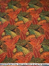 By The Yard Springs Industries PACKED LEAVES Cotton FABRIC Fall Autumn Leaf BTY