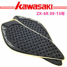 Tank Traction Gas Pad Knee Fuel Side Grips Decals For KAWASAKI Ninja ZX-6R 09-15