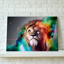 READY TO HANG Framed Canvas Prints Modern Home Décor Wall Art Picture -Lion